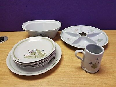 Lot Of Buchan Stoneware Blue Tableware