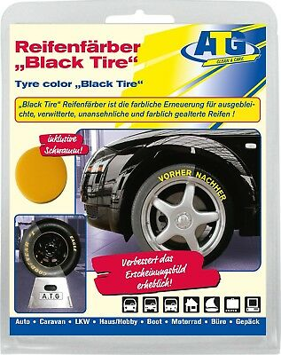 Tyre Colour Black Colouring Freshen Up Tyres Rubber Paint with Sponge