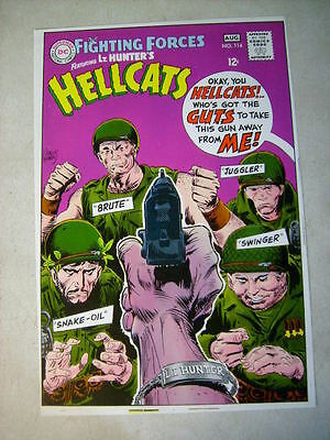 OUR FIGHTING FORCES #114 COVER ART original approval cover proof 1960's HELLCATS