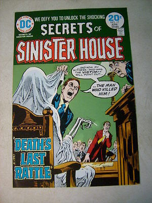 SECRETS of SINISTER HOUSE #17 COVER ART approval cover proof DEATH RATTLE, 70's