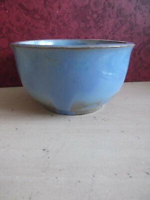 Lovely Prinknash Pot * Blue & Mushroom Colour * Excellent Condition, Not Used