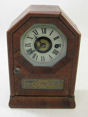 Antique Seth Thomas Rosewood One Day Shelf Cottage Clock