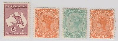 TASMANIA & AUSTRALIA SOUND LOT OG H M/M YOU IDENTIFY & GRADE 99c NO RESERVE