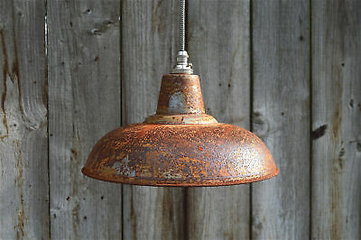 Rusty barn pendant light industrial style workshop hanging ceiling lamp RBLSR4
