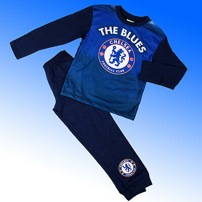 Boys Authentic Official Chelsea FC #CFC AOP Pyjamas Age 2-12 Years
