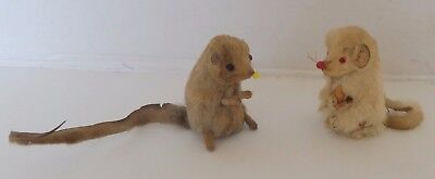 Vintage Dolls House Two Made In W.germany Original Fur Mice
