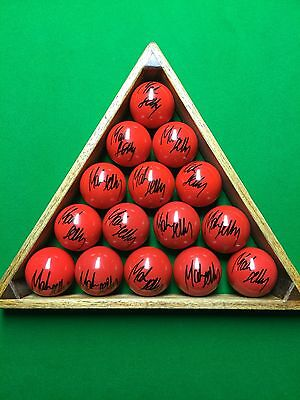 Mark Selby  2014,2016 And  2017 World Champion Signed New Red Snooker Ball