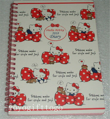 Sanrio Hello Kitty Note Book notebook 2018 Diary
