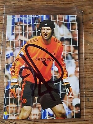 Petr  Cech       Hand  Signed  Photo  Card