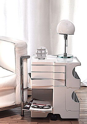 JOE COLOMBO BOBY TROLLEY WHITE B23 STORAGE B-LINE made in Italy