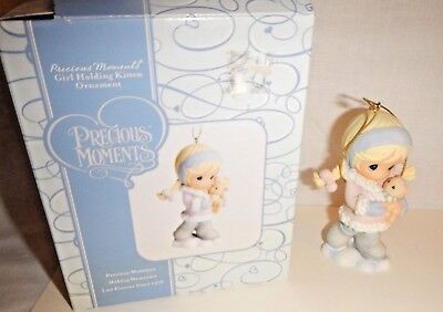 Precious Moments Girl Holding Kitten Ornament 2006 w Box #712003