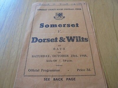 1948 Somerset County Rugby Football Union,Somerset v Dorset & Wilts