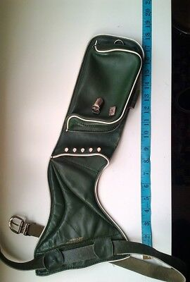 Archery_Quiver ...vintage green leather