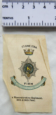 B.D.V. Cigarette silk No. 7 - Worcestershire Regiment 29th & 36th Foot