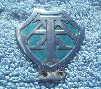 VINTAGE 1960s TRINIDAD & TOBAGO AA CAR BADGE -WEST INDIES AUTOMOBILE EMBLEM RARE