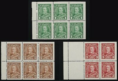 217b,218b,219a  GeoV 1935 issue, 3 different Booklet panes MH  cv$140