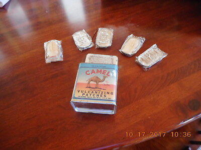 Vintage Camel Vulcanizing Patches * Tin No. 9-X * Tubeless Tire Repair