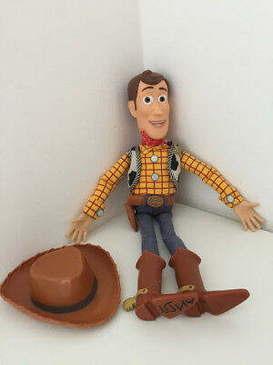 Woody Talking Pull Chord Doll With Hat Toy Story Disney 16""