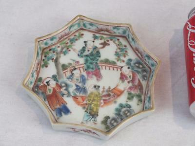 19Th C Chinese Porcelain Famille Verte Figure And Boys Teapot Stand / Dish