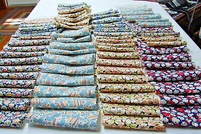 1920s early 30s Vintage LOT 80 CUTE COTTON PRINT QUILT FABRIC SCRAPS  #5