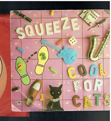 Squeeze Cool For Cats Ps 45 Pink Vinyl 1979