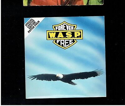 W.a.s.p. Forever Free Ps 45 With Patch 1989