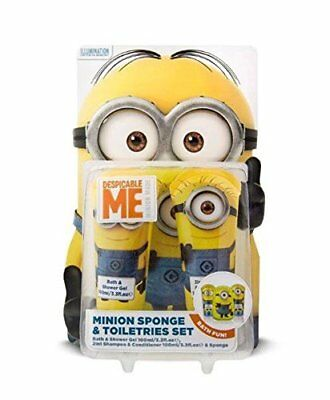 DESPICABLE ME 3PC Young Kids Gift Set ( Minion Sponge, shower gel, shampoo)