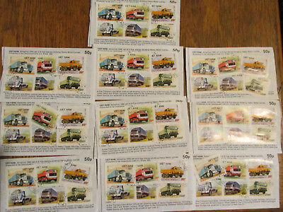 Vehicles Vietnam Approval pages collection 10 sets good c/v    3