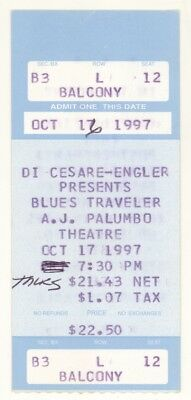 Rare BLUES TRAVELER 10/17/97 Pittsburgh PA Palumbo Theatre Concert Ticket Stub!