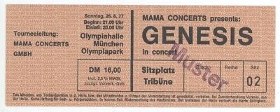 Rare GENESIS 6/26/77 Munich Germany UNUSED Concert Ticket!