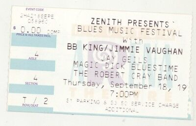 BB King Jimmie Vaughan J Geils Dick Robert Cray 9/18/97 Houston Ticket Stub!