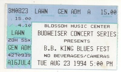 RARE BB King 8/23/94 Cuyahoga OH Blossom Music Center Concert Ticket Stub!