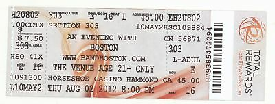 Rare BOSTON the band 8/2/12 Hammond IN Horseshoe Casino Concert Ticket!