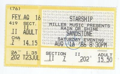 RARE Jefferson Starship 8/16/86 Kansas City KS Concert Ticket Stub! Airplane