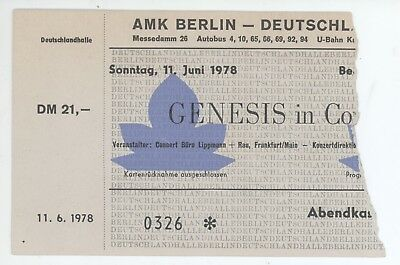 Rare GENESIS 6/11/76 Berlin Germany Concert Ticket Stub!
