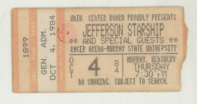 RARE Jefferson Starship 10/4/84 Murray KY MSU Concert Ticket Stub! Airplane