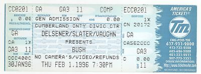 Rare BUSH the band 2/1/96 Portland ME Cumberland County CC Concert Ticket!