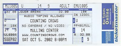 Rare COUNTING CROWS 10/5/02 Amherst MA Mullins Center Concert Ticket!