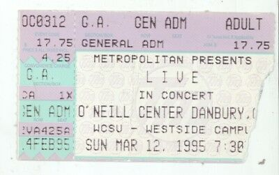 RARE Live the band 3/12/95 Danbury CT O'Neill Center Concert Ticket Stub!