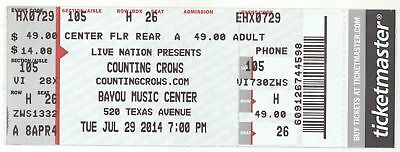 Rare COUNTING CROWS & TOAD THE WET SPROCKET 7/29/14 Houston TX Concert Ticket!