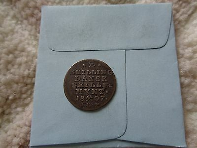 1807 Norway 2 skilling silver coin Better details