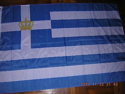 100% New Reproduced Flag Naval Ensign of Kingdom of Greece Greek Navy 1935-1973