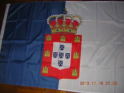 100% New Reproduced Flag of Kingdom of Portugal 1830-1910 Ensign 3X5ft