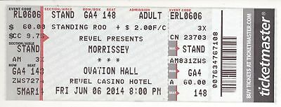 Rare MORRISSEY 6/6/14 Atlantic City NJ Concert Ticket! The Smiths