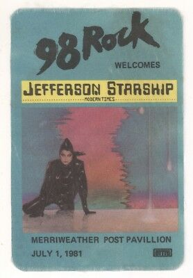 Jefferson Starship 7/1/81 Washington DC Commemorative Pass! Backstage Airplane