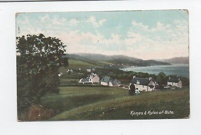Early postcard Kames & Kyles of Bute Argyll 1904