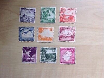 Nauru Stamps 1954 Complete Set