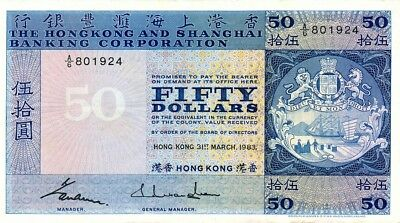 Hong Kong Bank Hong Kong  $50 1983   EF
