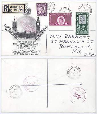 1961 Conference of Commonwealth Parliamentary Association UK FDC! London Cancel