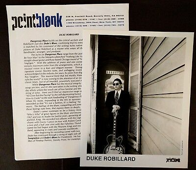 RARE Duke Robillard Press Kit for Dangerous Place! Photo N51